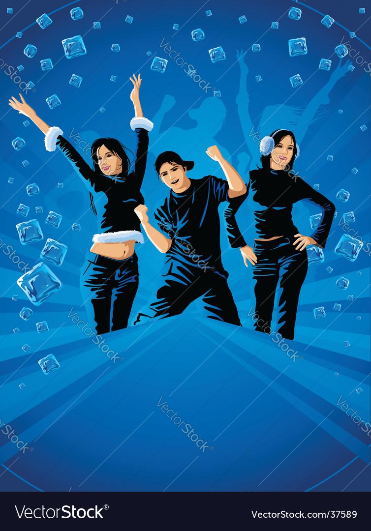 Teenagers dancing vector | Price: 5 Credit (USD $5)