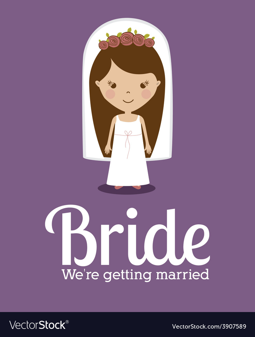 Wedding design over purple background vector | Price: 1 Credit (USD $1)