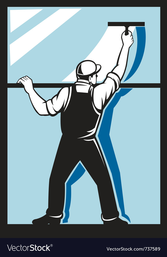 Window washer worker vector | Price: 1 Credit (USD $1)