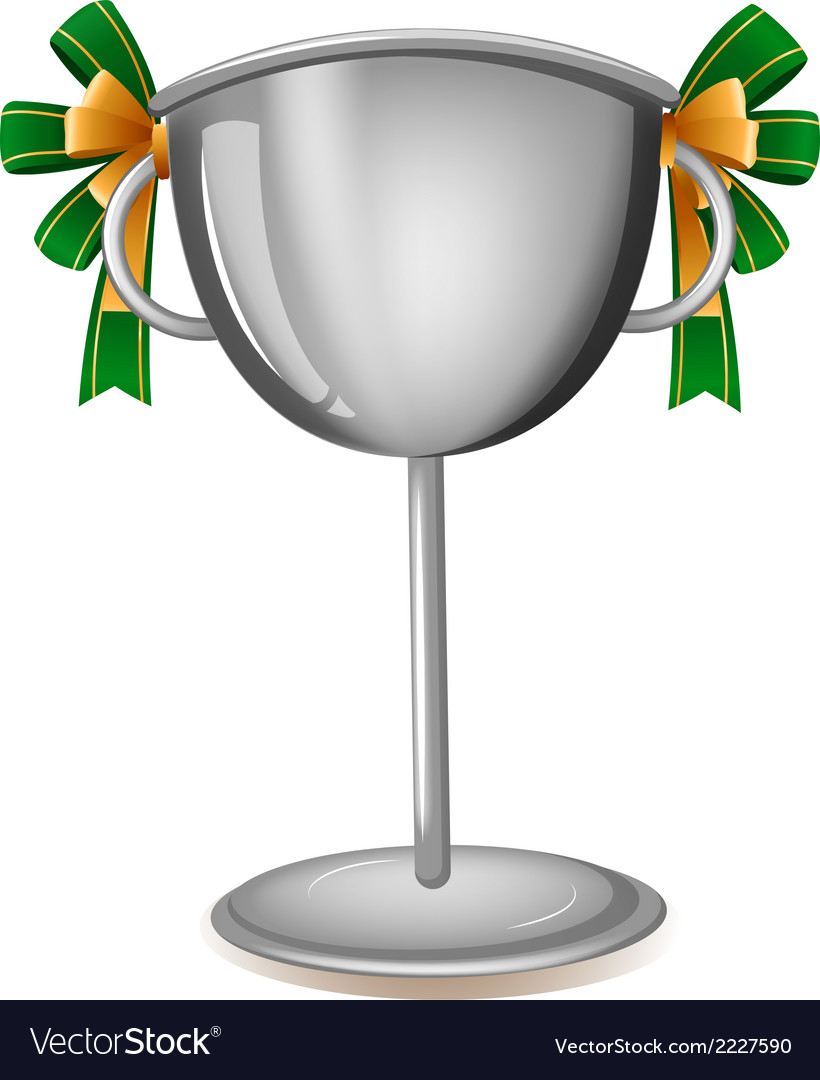 A gray cup with ribbons vector | Price: 1 Credit (USD $1)
