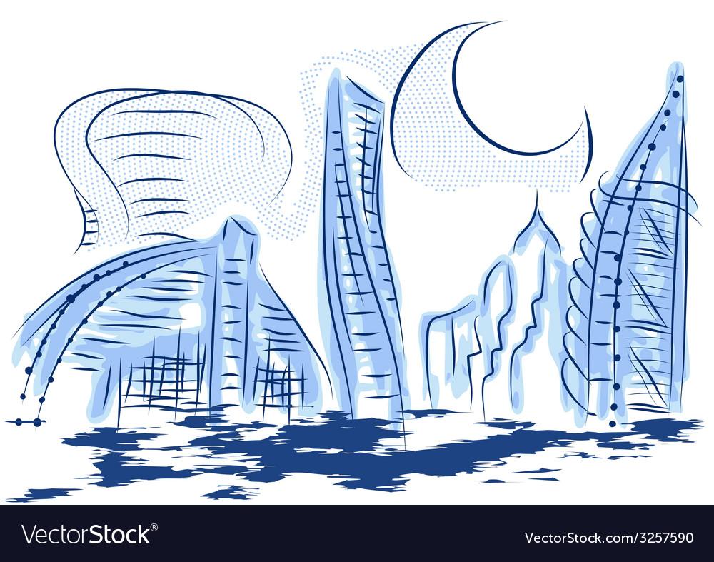 Dubai vector | Price: 1 Credit (USD $1)
