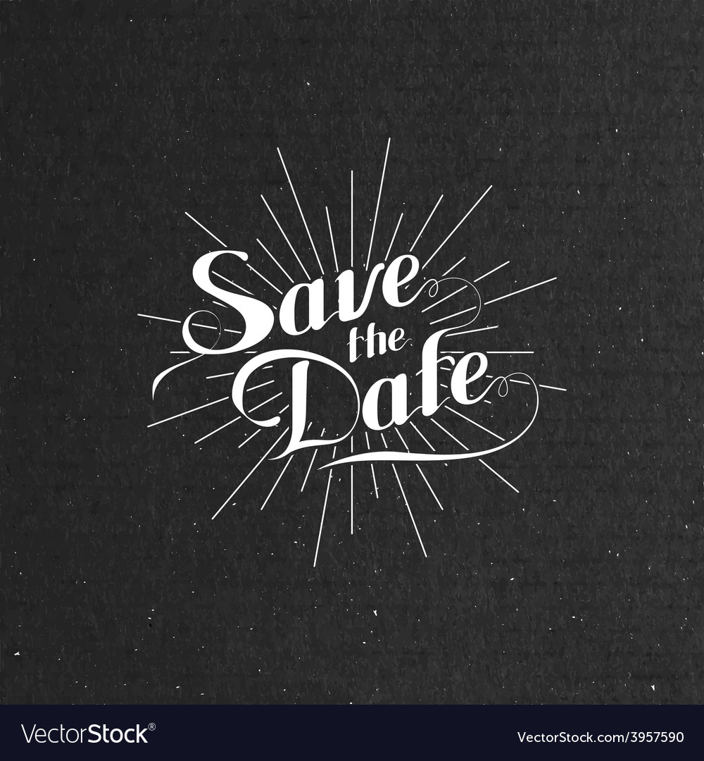 Handwritten save the date label vector | Price: 1 Credit (USD $1)