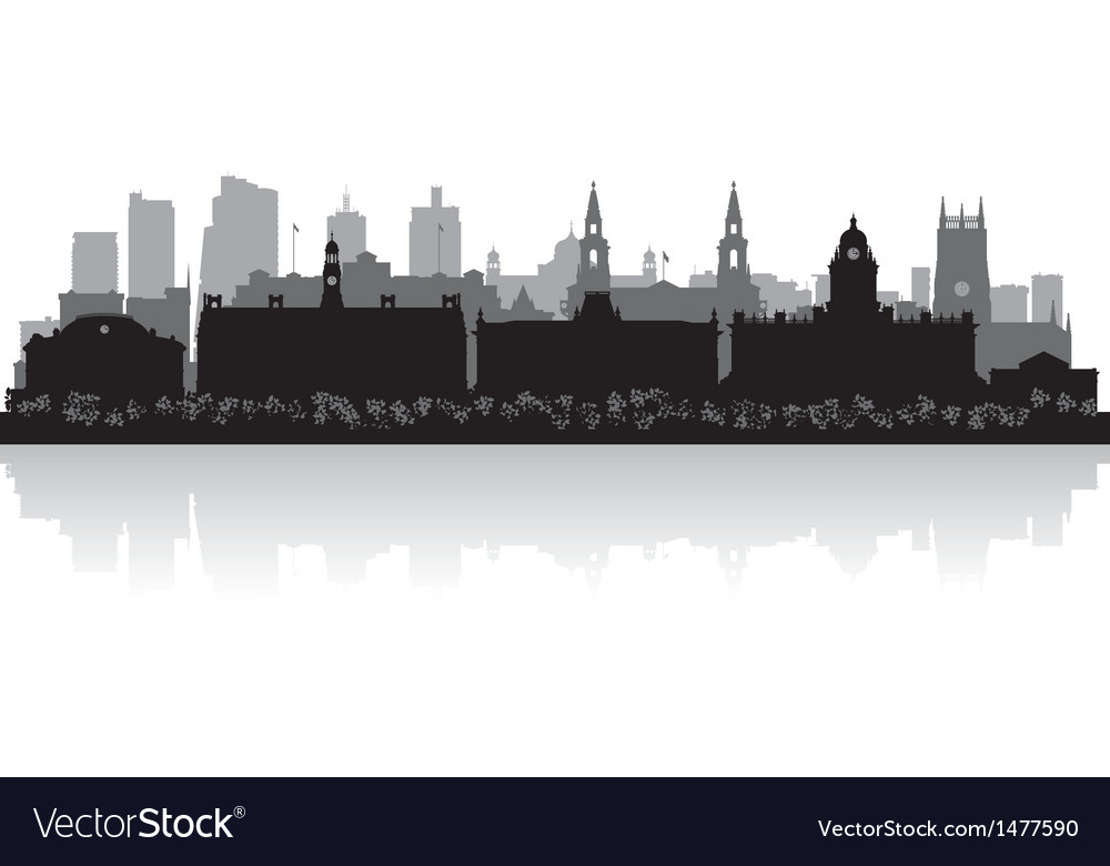 Leeds city skyline silhouette vector | Price: 1 Credit (USD $1)