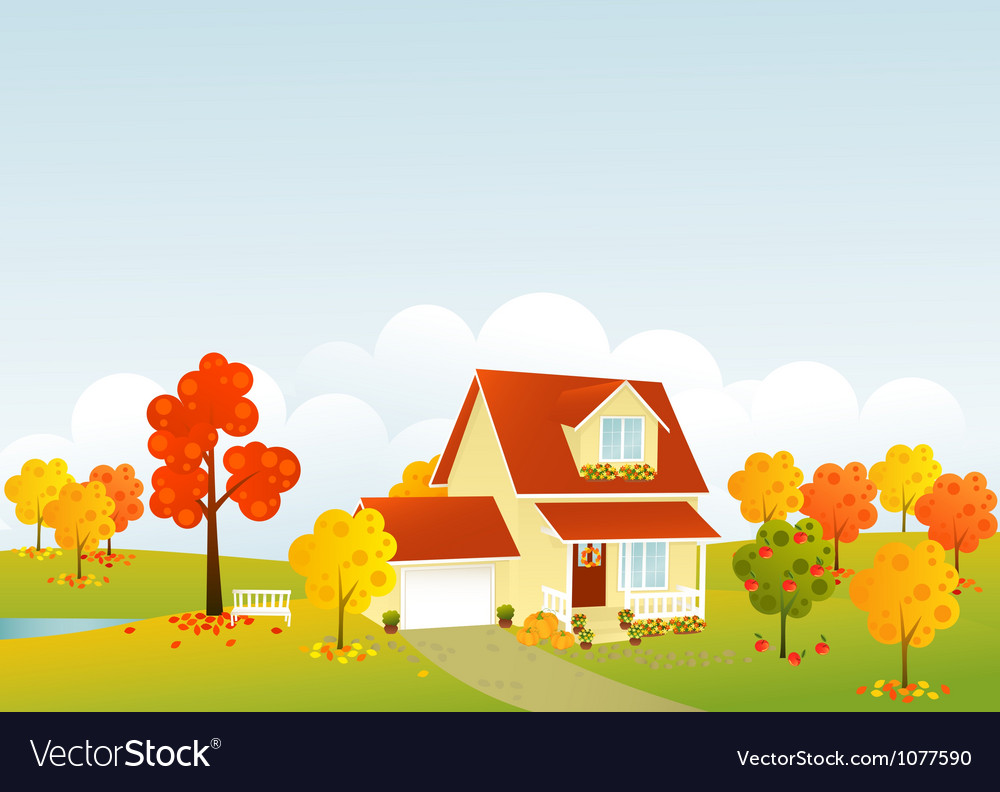 Nice house vector | Price: 1 Credit (USD $1)