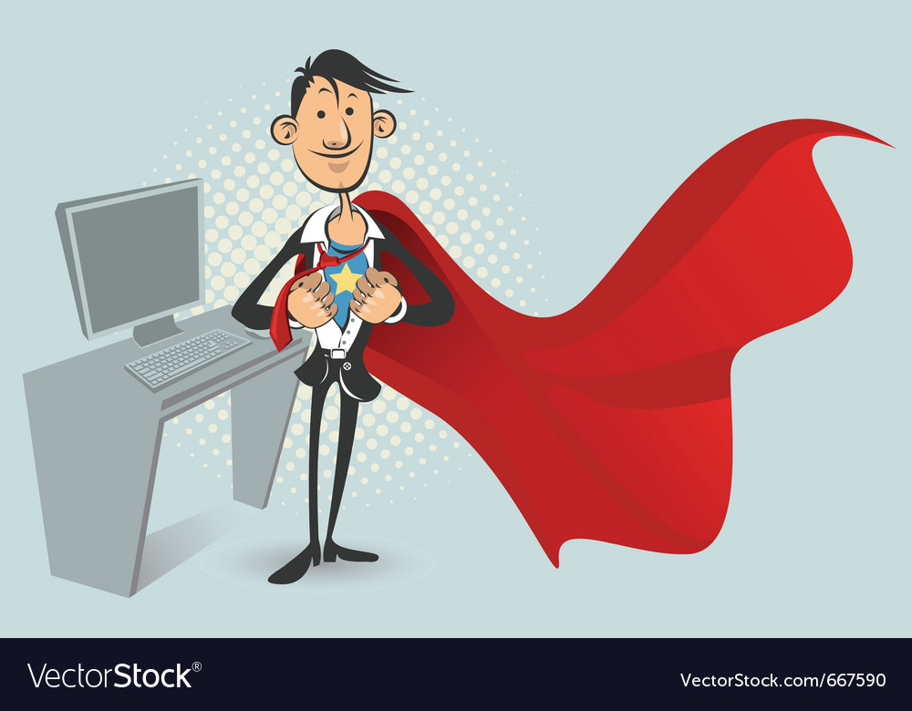 Office superhero vector | Price: 3 Credit (USD $3)