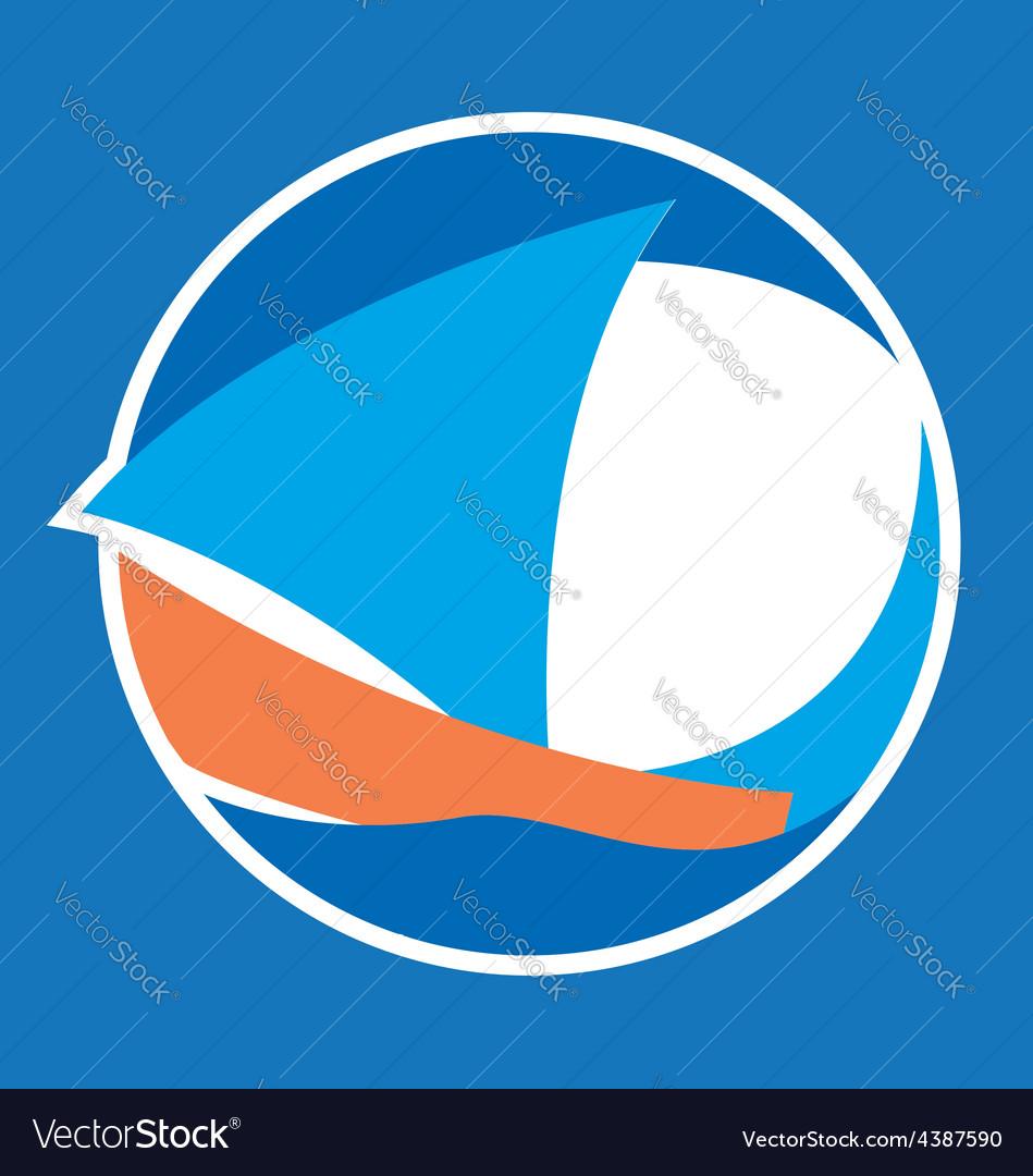 Sailing logo vector | Price: 1 Credit (USD $1)