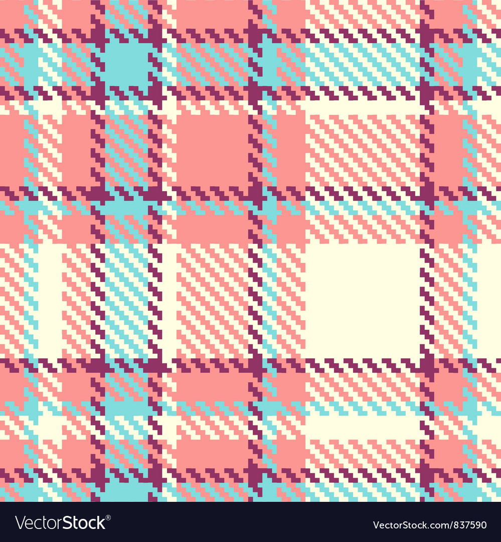Seamless plaid fabric vector | Price: 1 Credit (USD $1)