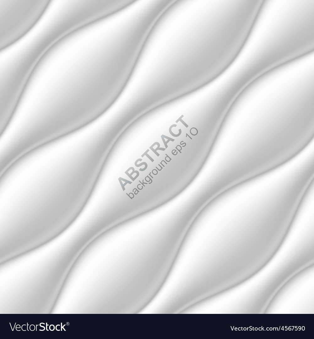 White seamless wavy background vector | Price: 1 Credit (USD $1)
