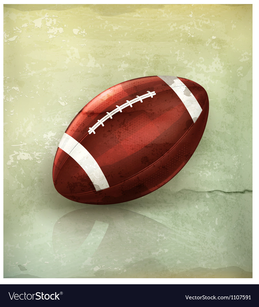American football old-style vector | Price: 3 Credit (USD $3)