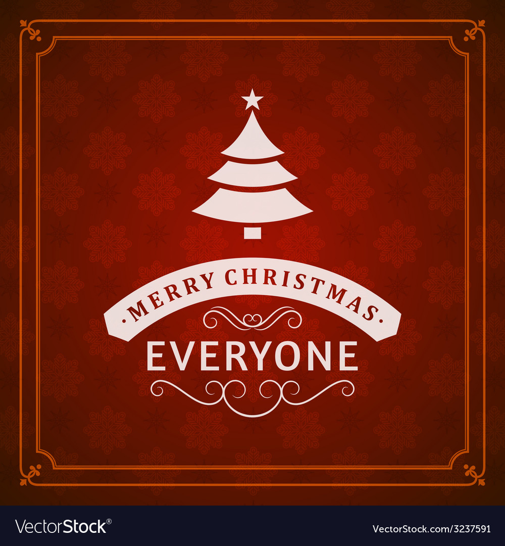 Christmas postcard ornament decoration background vector | Price: 1 Credit (USD $1)