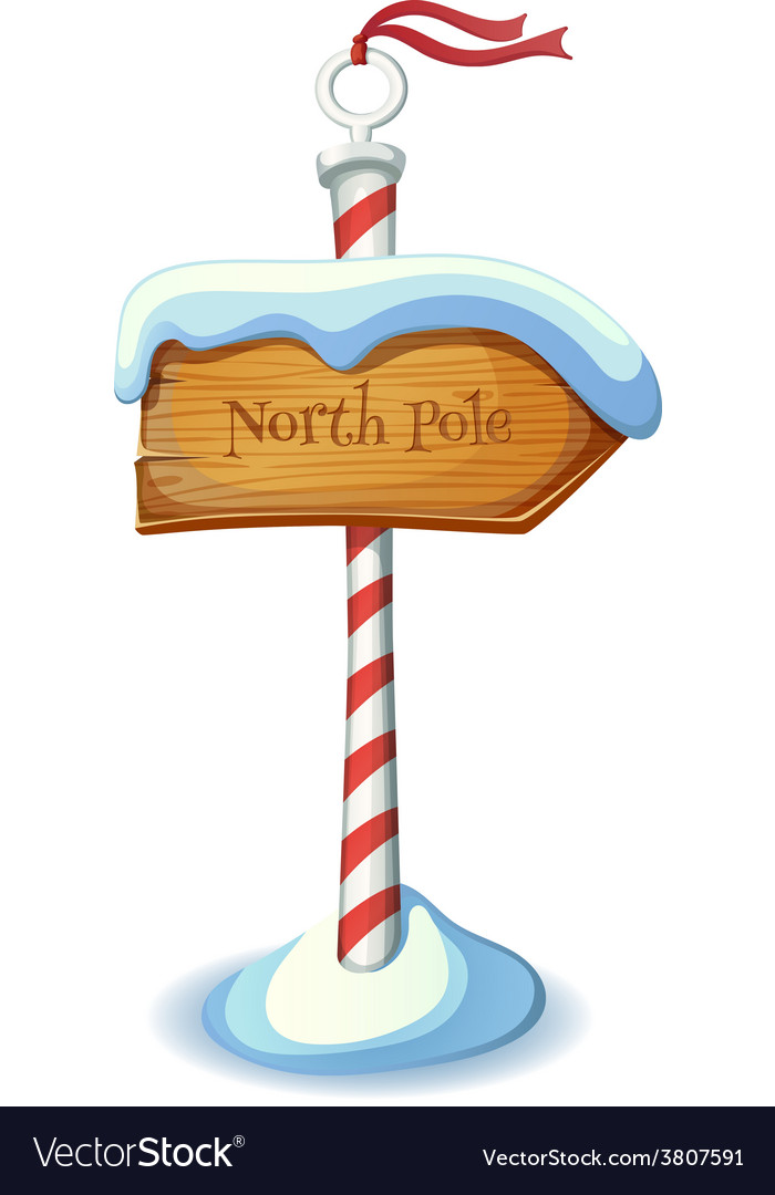 Christmas striped sign post vector | Price: 1 Credit (USD $1)