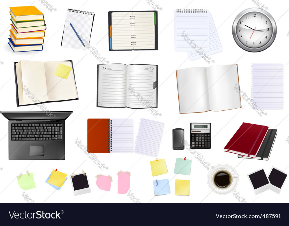 Collection of business elements vector | Price: 3 Credit (USD $3)