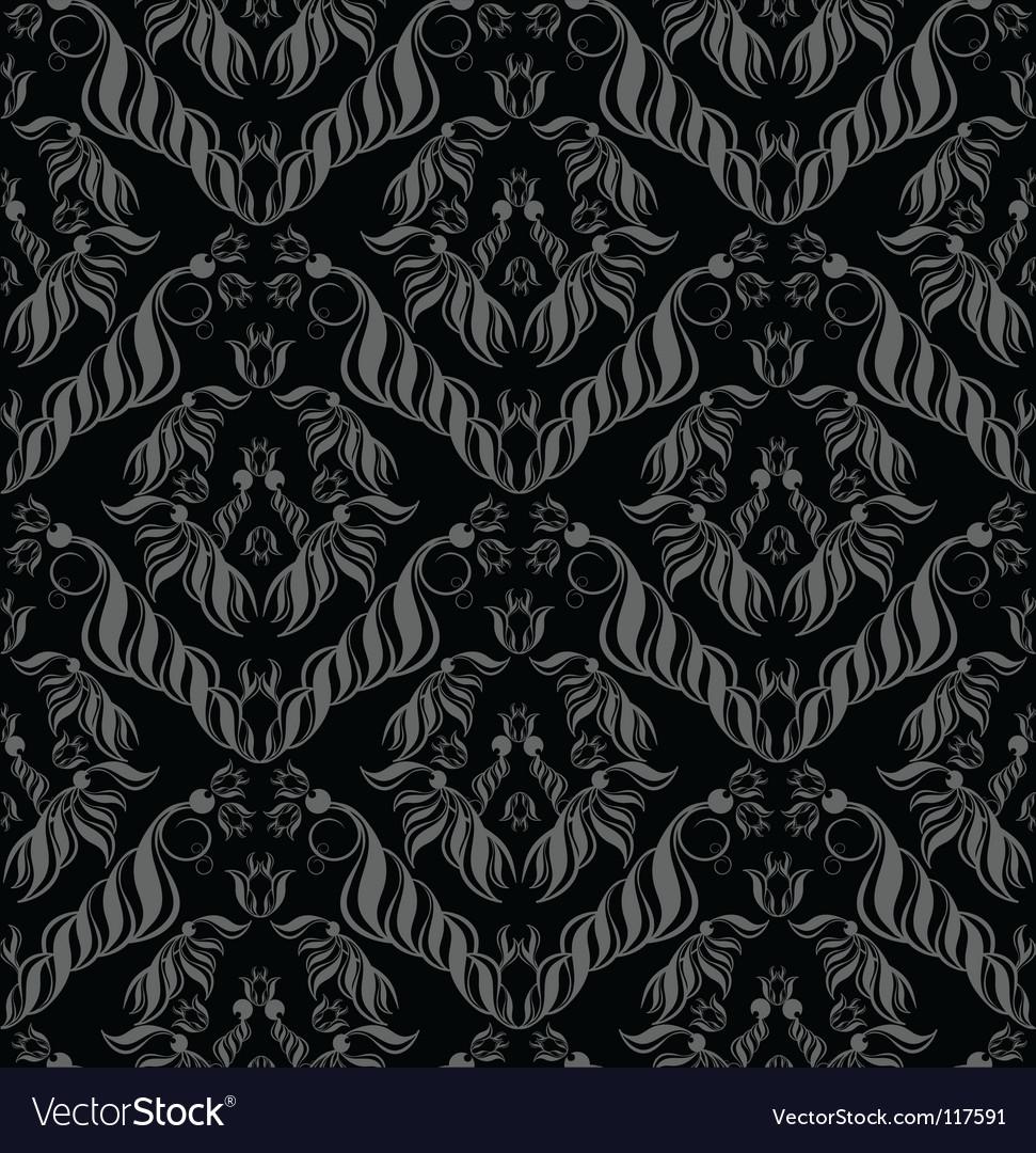 Decorative seamless floral ornament vector | Price: 1 Credit (USD $1)