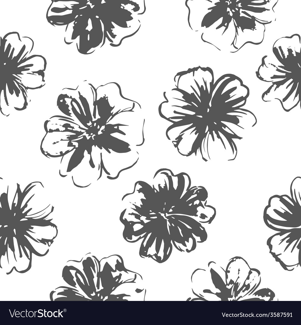 Flowers seamless pattern vector | Price: 1 Credit (USD $1)