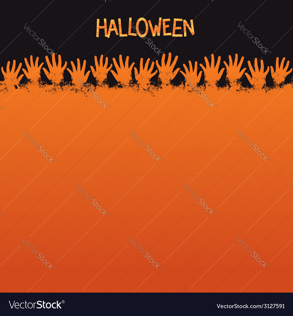 Halloween card template vector | Price: 1 Credit (USD $1)