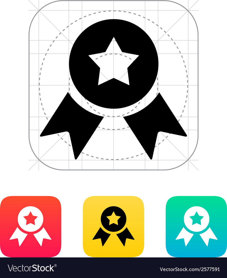 Medal with star icon vector | Price: 1 Credit (USD $1)