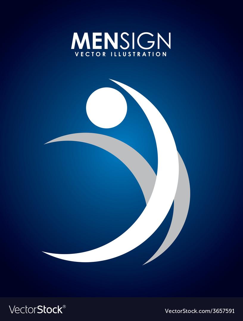 Men sign vector | Price: 1 Credit (USD $1)