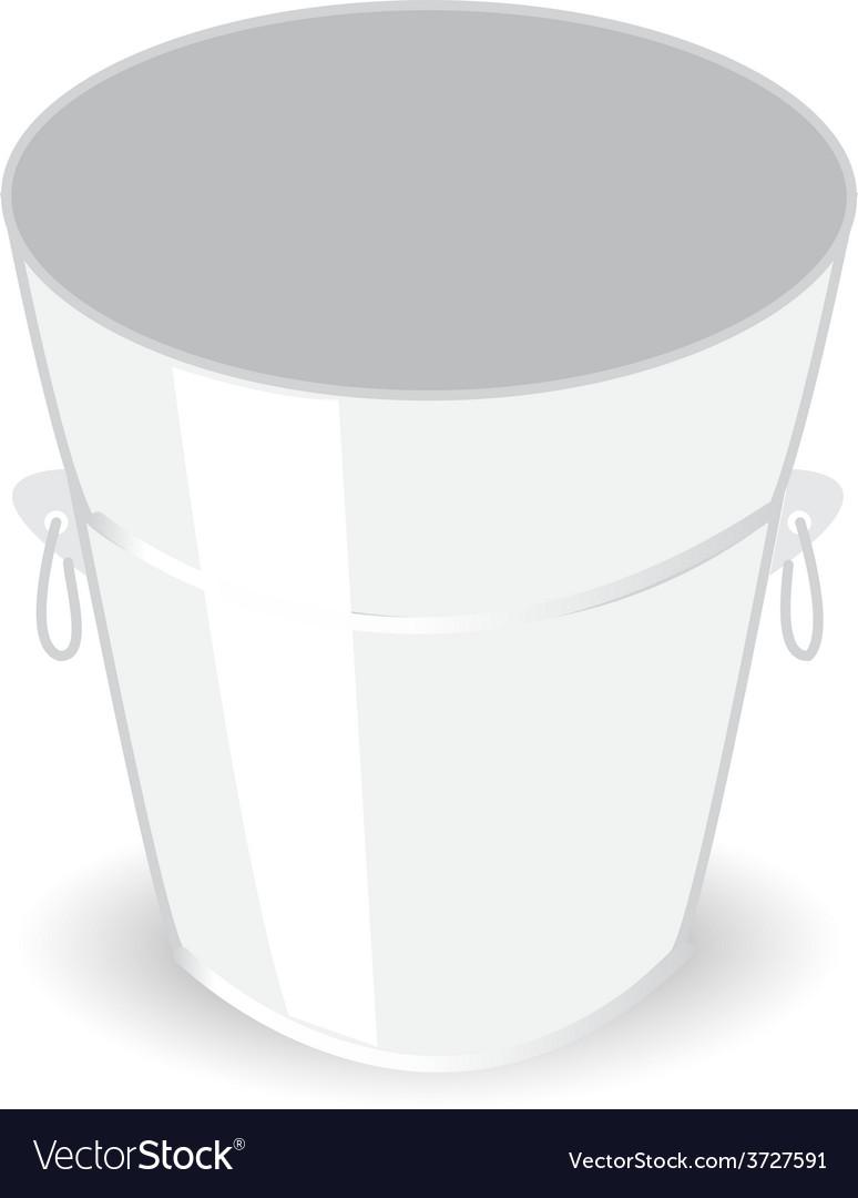 Metal bucket vector | Price: 1 Credit (USD $1)