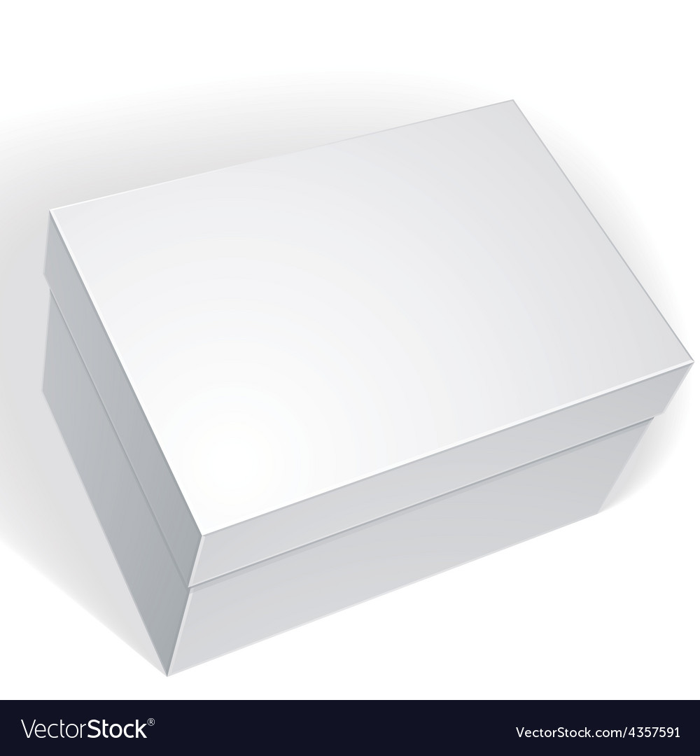 Package white box design isolated on white vector | Price: 1 Credit (USD $1)