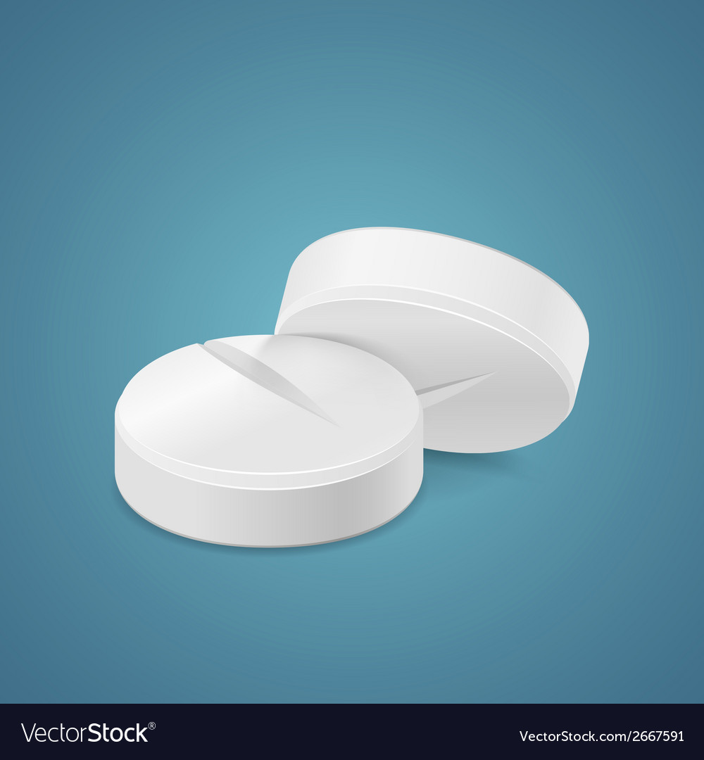 Round tablet vector