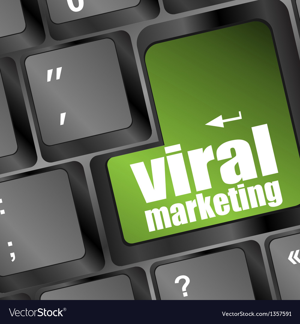 Viral marketing word on computer keyboard vector | Price: 1 Credit (USD $1)