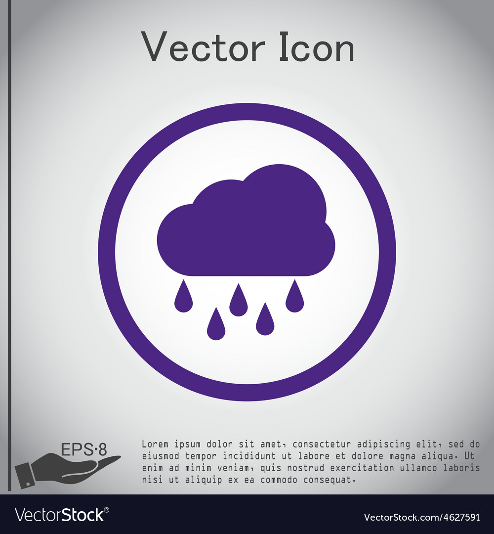 Weather icon cloud rain vector | Price: 1 Credit (USD $1)