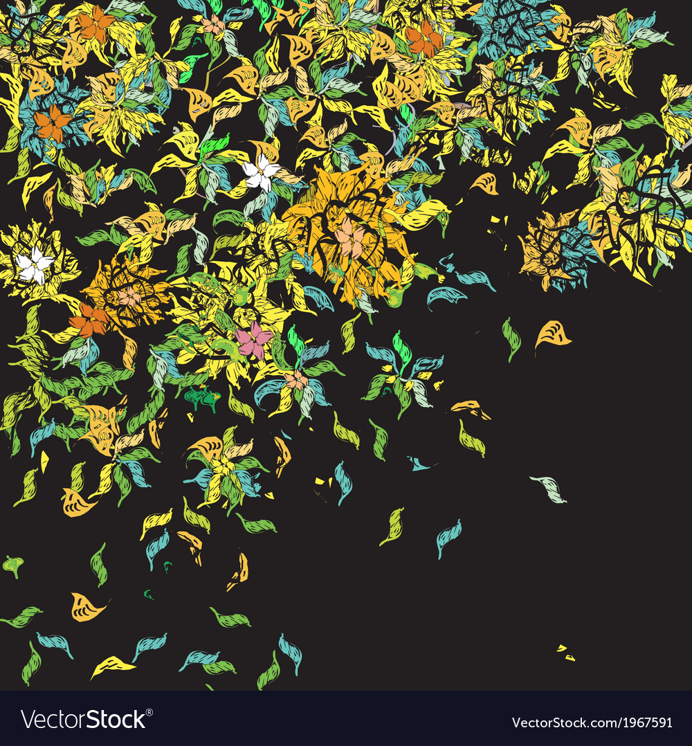 Weird floral pattern vector | Price: 1 Credit (USD $1)