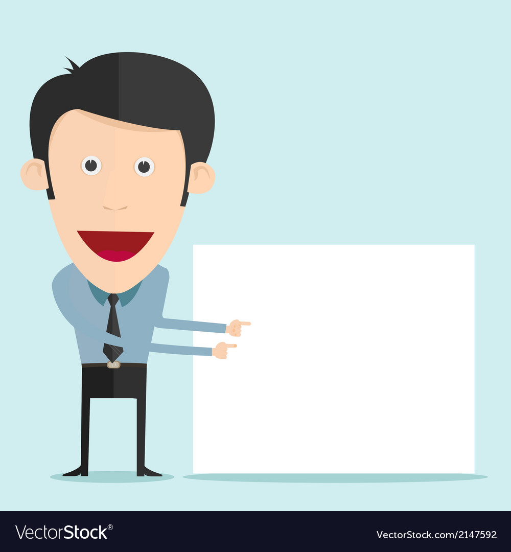 Cartoon holding blank board vector | Price: 1 Credit (USD $1)
