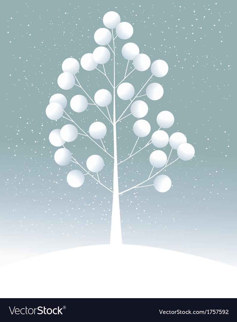 Cartoon lonely tree vector | Price: 1 Credit (USD $1)