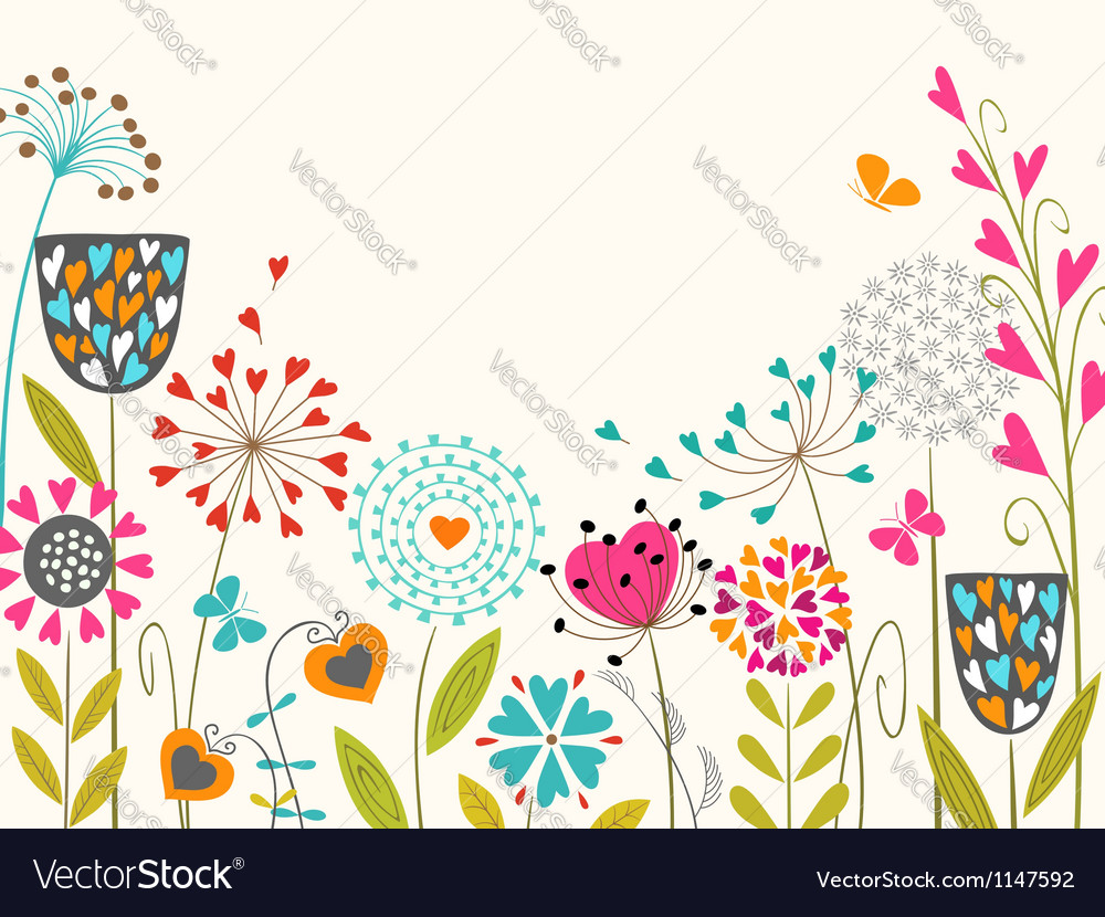 Floral spring design vector | Price: 1 Credit (USD $1)