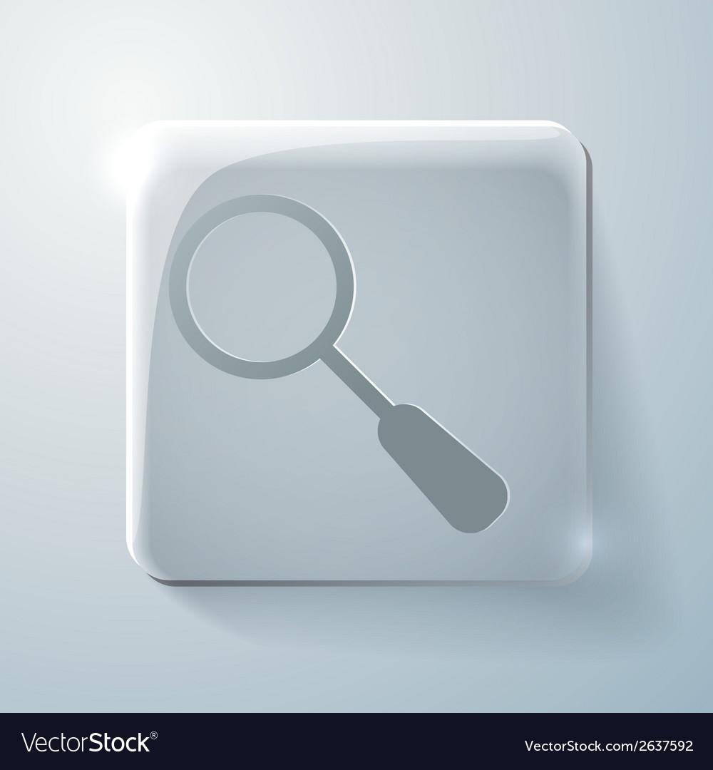 Glass square icon magnifier search vector | Price: 1 Credit (USD $1)