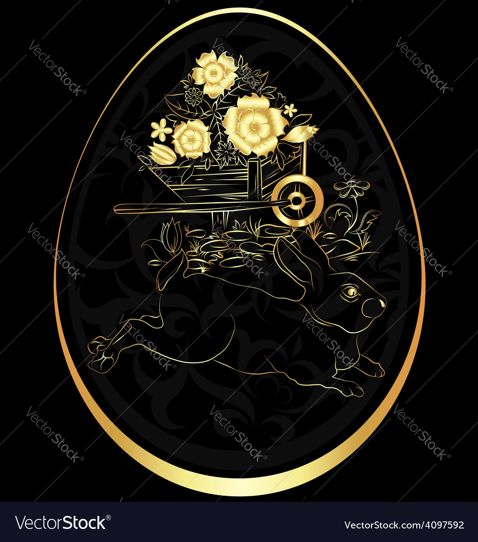 Golden easter egg vector | Price: 1 Credit (USD $1)