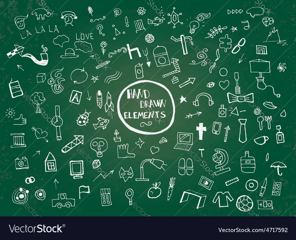 Hand drawn elements vector   Price: 1 Credit (USD $1)