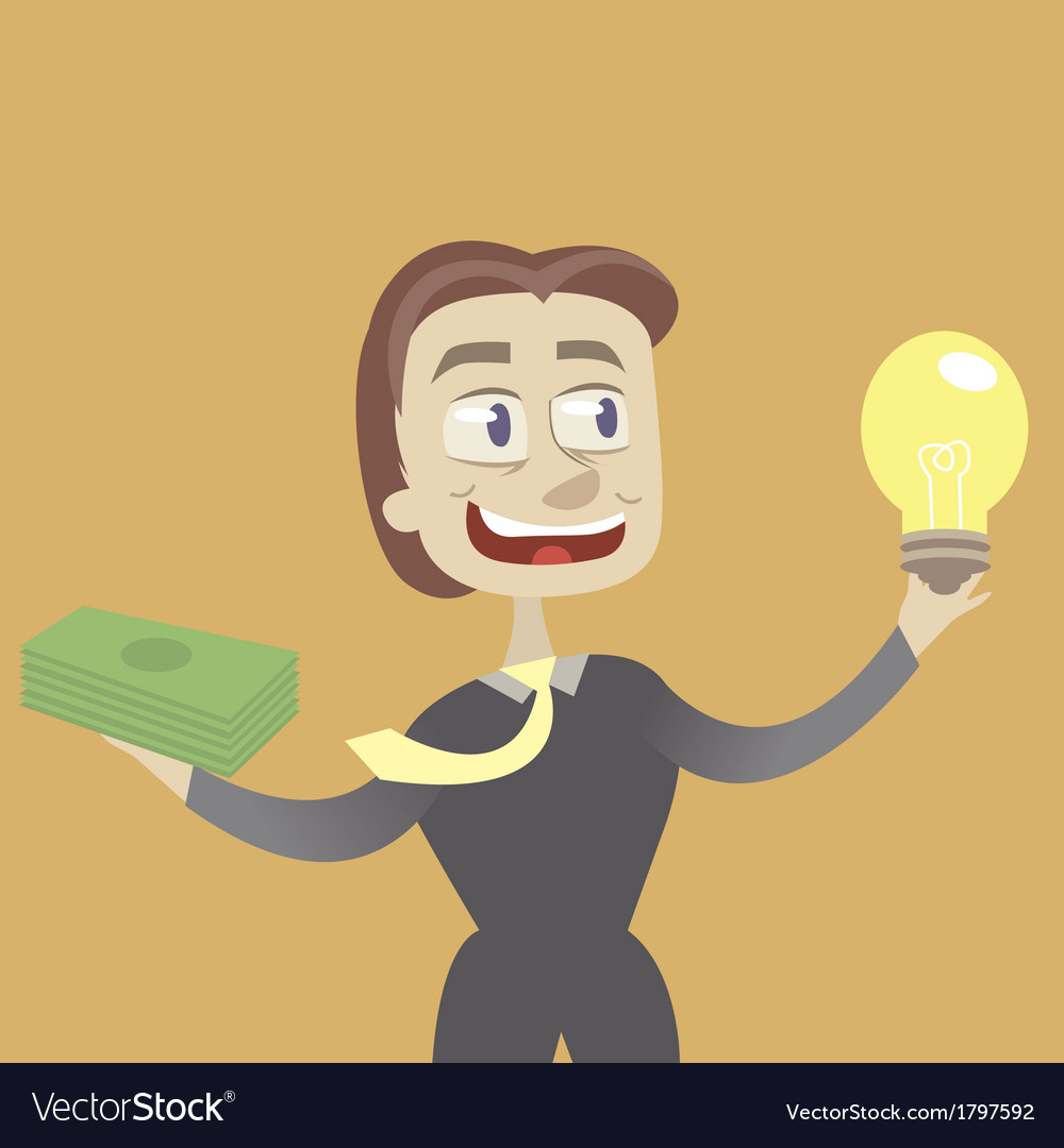 Idea and money vector | Price: 1 Credit (USD $1)