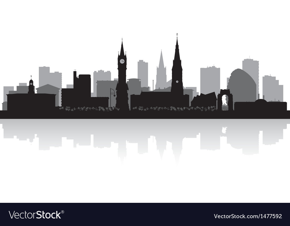 Leicester city skyline silhouette vector | Price: 1 Credit (USD $1)