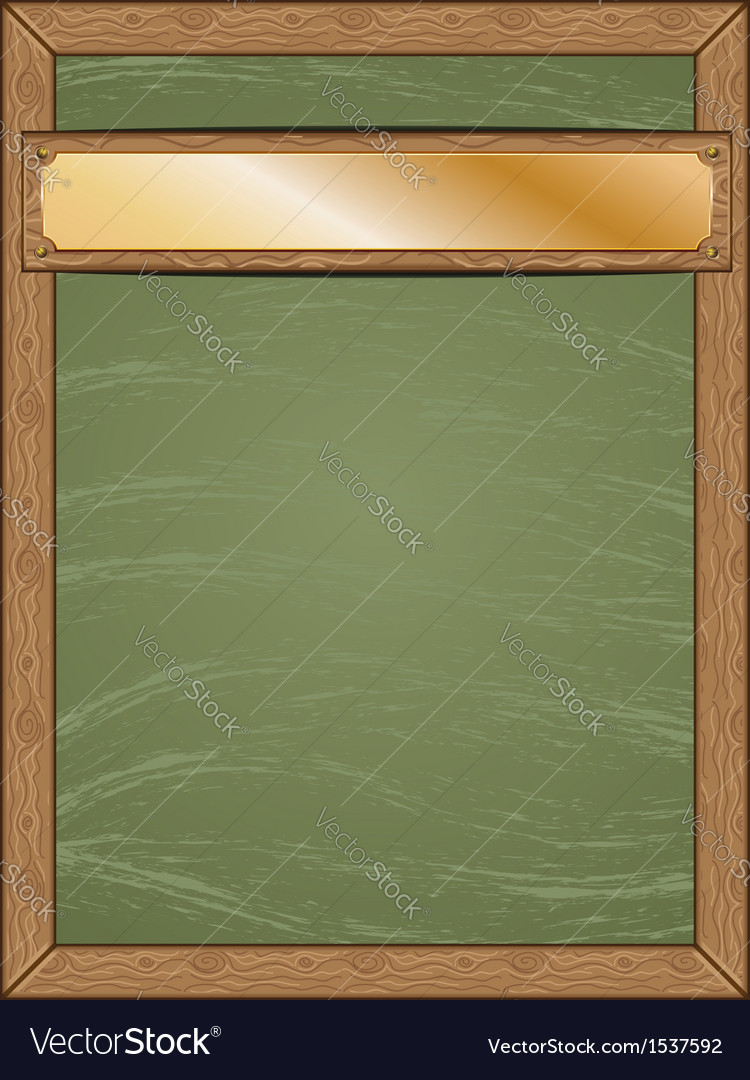 Menu chalkboard with gold table vector | Price: 1 Credit (USD $1)