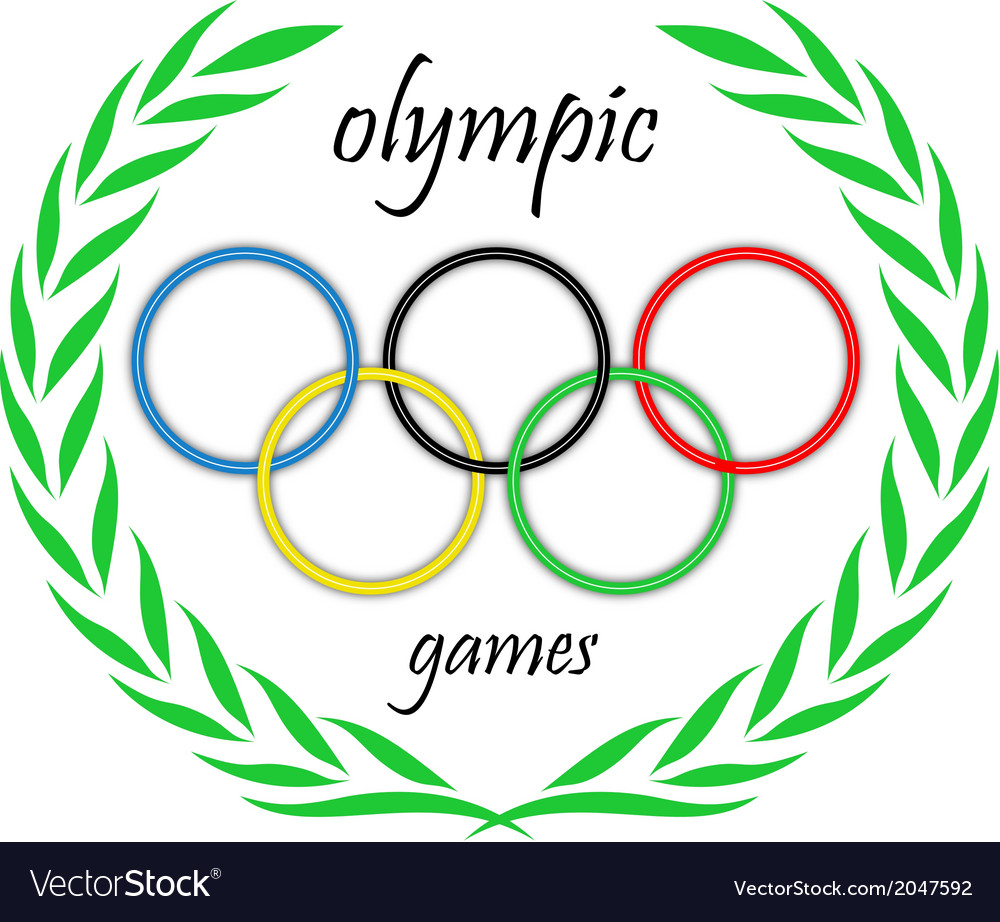 Olympic rings in a crown vector | Price: 1 Credit (USD $1)