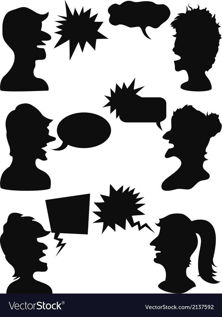 People talking vector | Price: 1 Credit (USD $1)