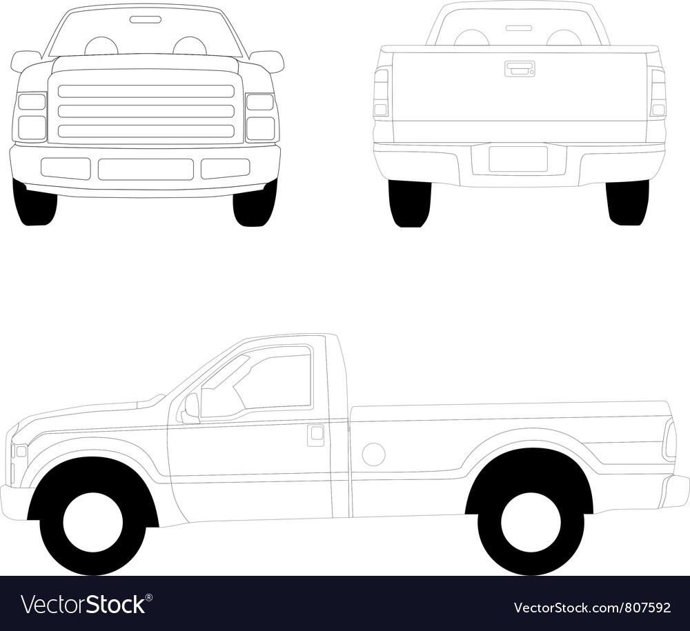 Pick-up truck vector | Price: 1 Credit (USD $1)