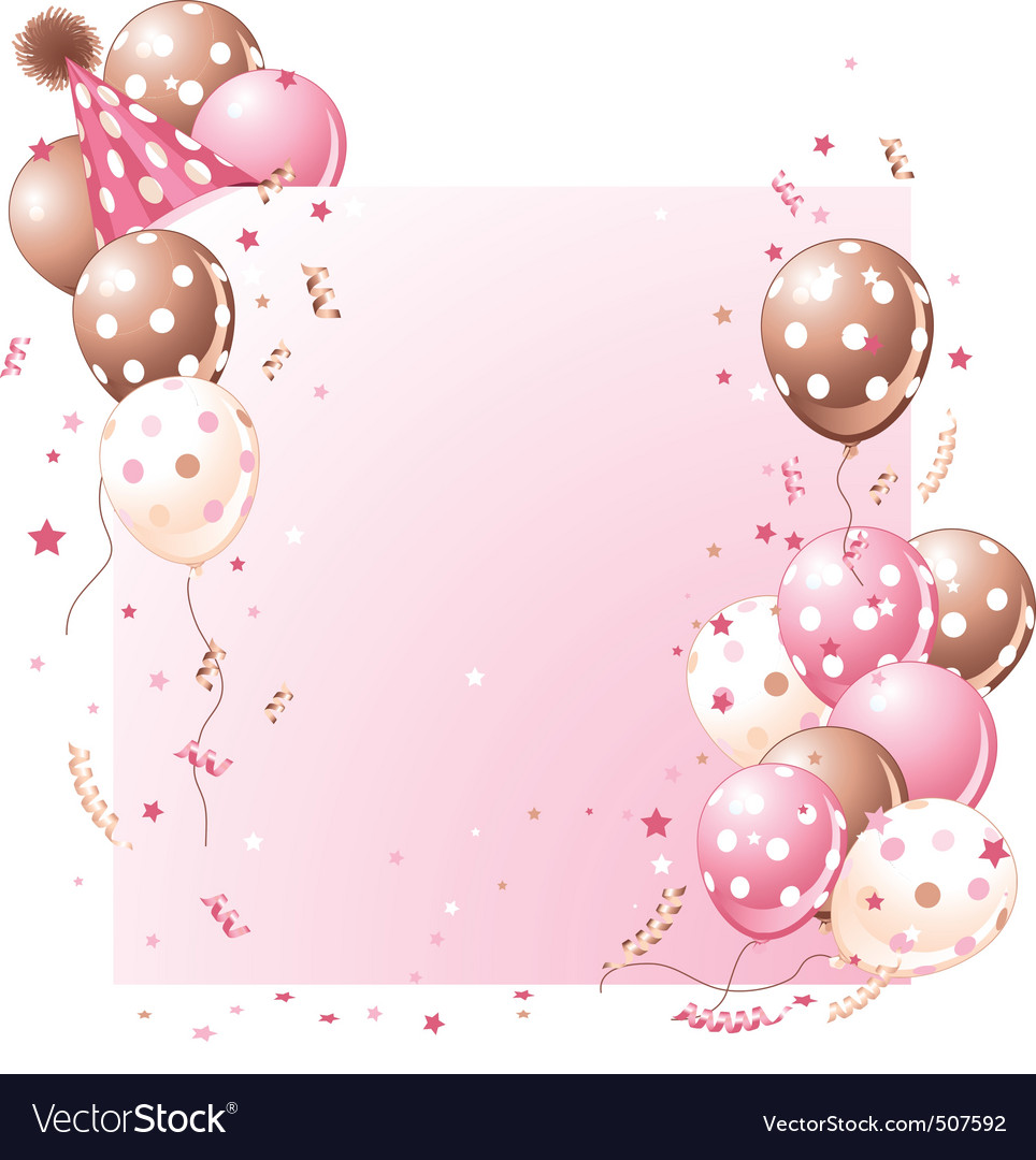 Pink birthday card vector | Price: 3 Credit (USD $3)