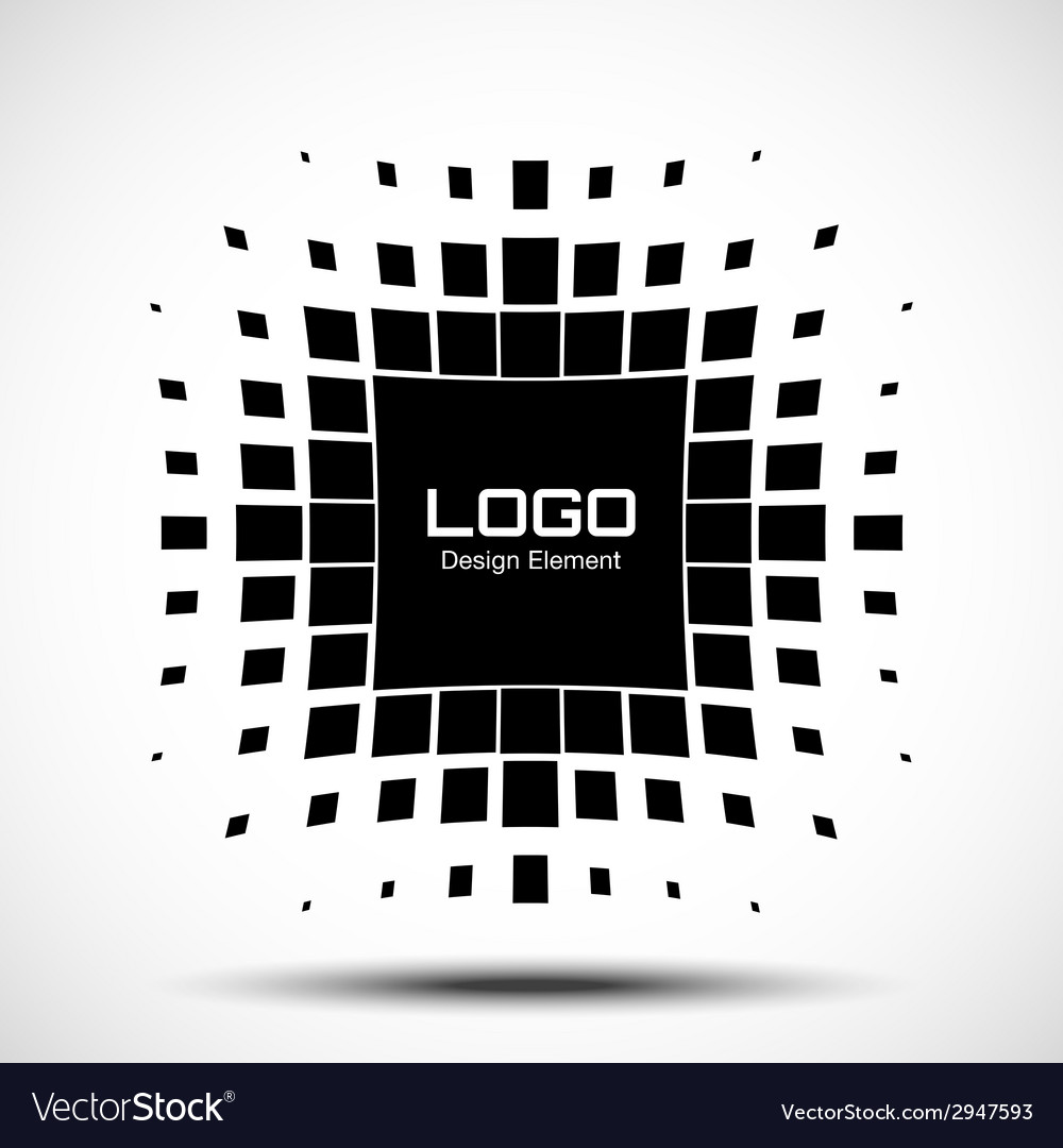 Abstract halftone logo design element vector   Price: 1 Credit (USD $1)