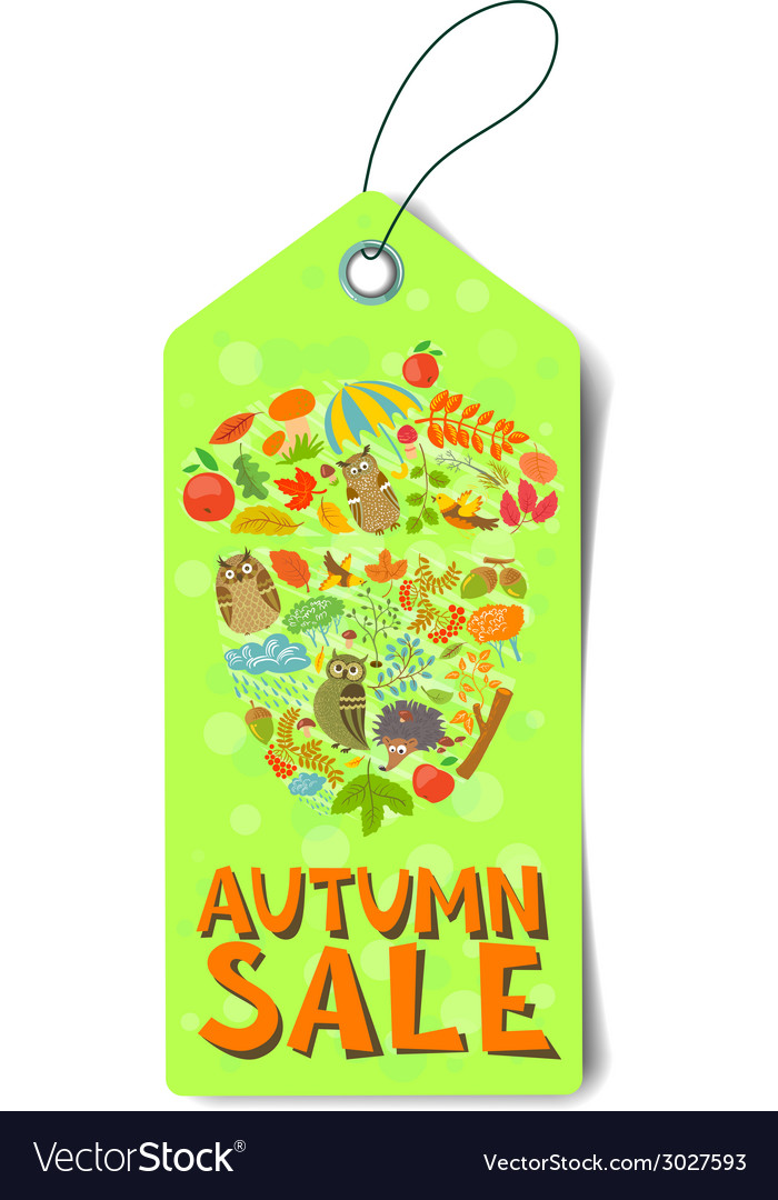 Autumn sale tag vector | Price: 1 Credit (USD $1)