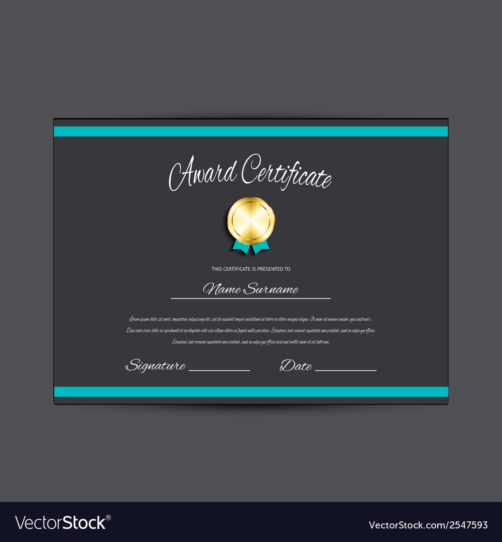 Award certificate vector | Price: 1 Credit (USD $1)