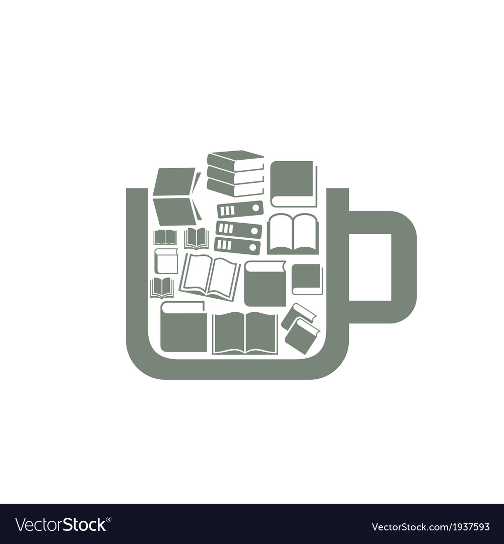 Book a cup vector | Price: 1 Credit (USD $1)