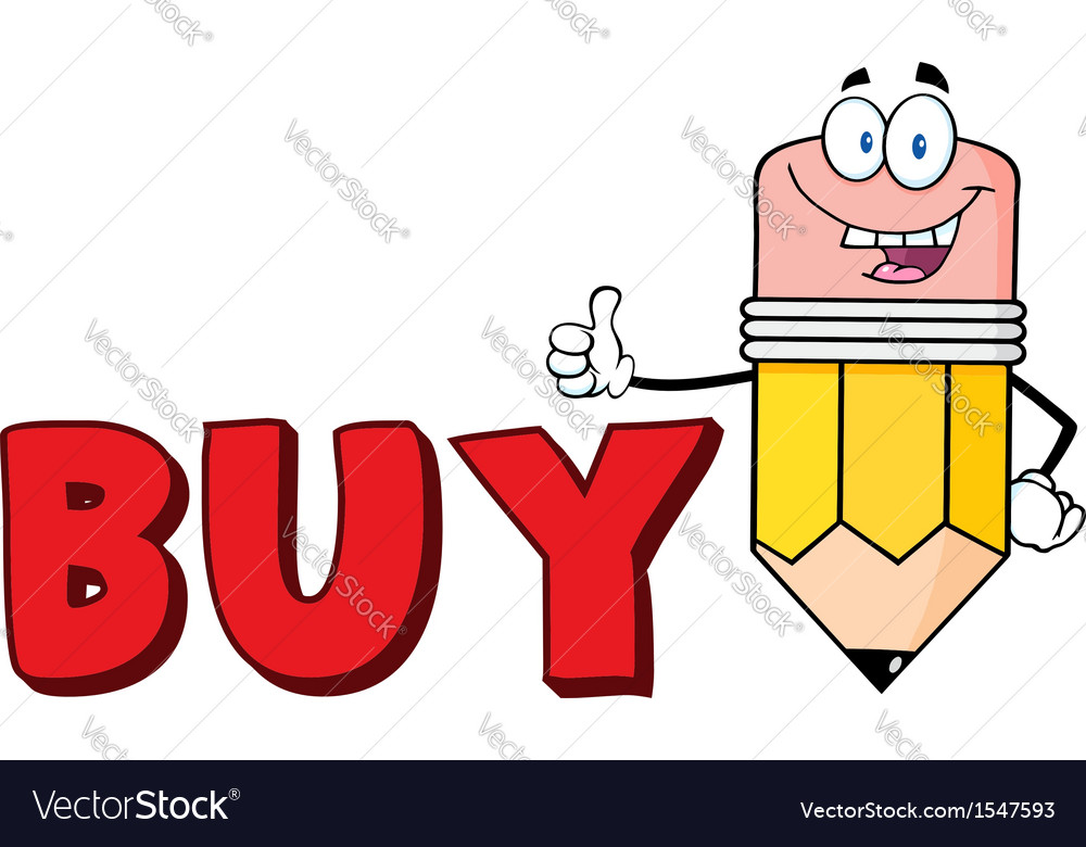 Buy cartoon selling pencil vector | Price: 1 Credit (USD $1)