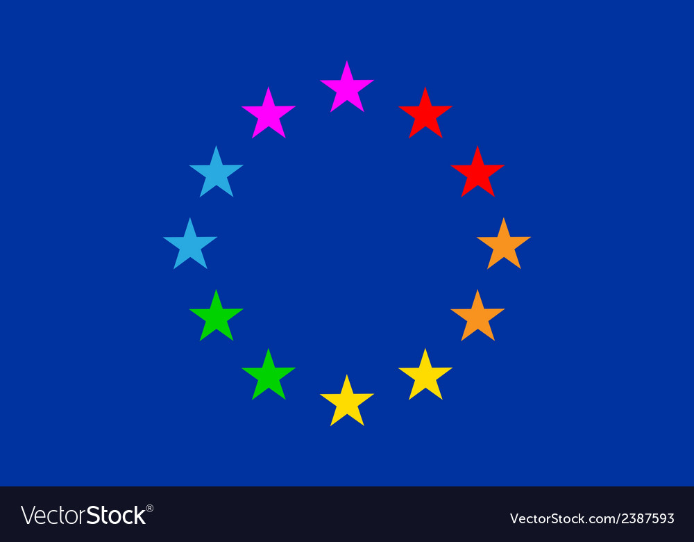 European gay flag vector | Price: 1 Credit (USD $1)