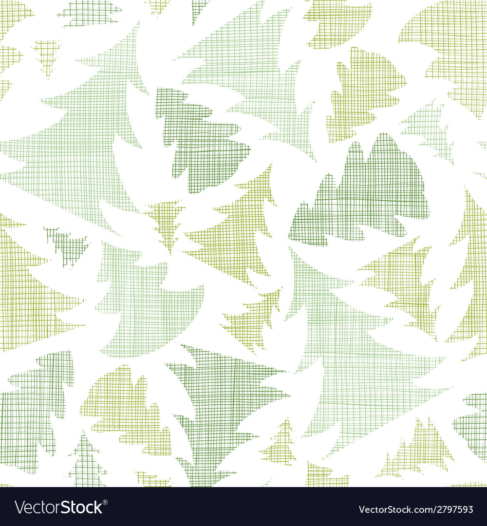 Green christmas trees silhouettes textile seamless vector | Price: 1 Credit (USD $1)