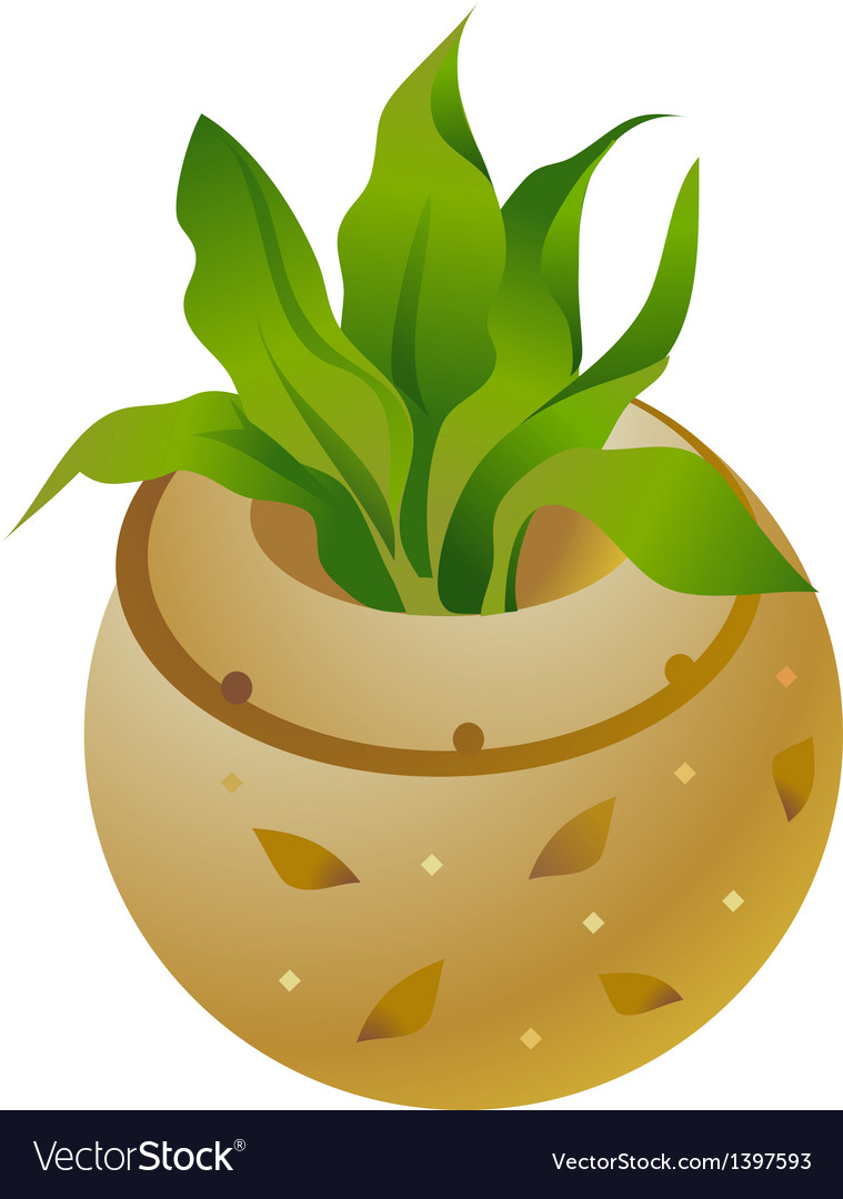Icon flowerpot vector | Price: 1 Credit (USD $1)