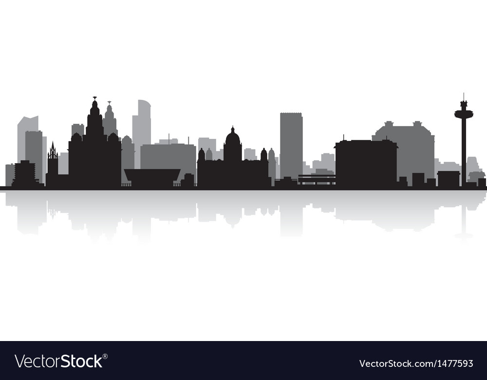 Liverpool city skyline silhouette vector | Price: 1 Credit (USD $1)