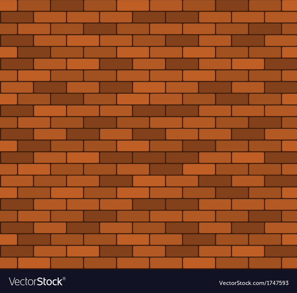 Seamless brick wall background vector | Price: 1 Credit (USD $1)